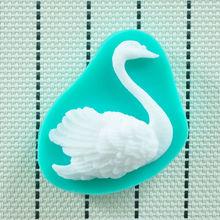 2014 HOT Food-grade cisne Silicone Mold 3D , Ferramentas Fondant decoração do bolo, Silicone Soap Mold, Silicone Mold bolo(China (Mainland))