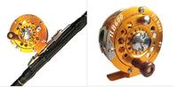 Free shipping Fly Fish reel /100(mm/m) 1:1 HB600 Full Metal Former Ice Fishing Reel raft fishing