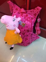 Free shipping 2014 New children school backpacks children cartoon bag peppa pig bag peppa bag school backpacks