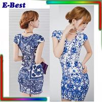 Bodycon sexy summer dress cheap mini women clothing casual plus size print vestidos femininos women work wear O neck 2 colors