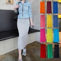 Bust skirt 2014 spring women's slim hip skirt step high waist slim placketing skirt half-length full dress