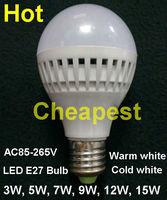 Wholesale E27 B22 Led Light Bulb 3W 5W 7W 9W 12W 15W LED Bulb Lamp, 220v 240V Cold Warm White Led Spotlight Free Shipping