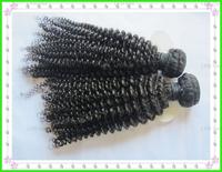 Fashion Virgin Mongolian  kinky curly human hair extension , Curly hair of 3b4c beautiful kinky curly