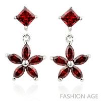 2014 New design Swiss Zircon Dangle Earrings exaggerated Austrian Crystal women's Drop earrings Platinum plated earrings(FE-114)