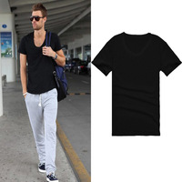 Slim Fit V-neck Short Sleeve T-shirts High Quality Summer Casual New Cotton Soft And Comfortable tops&tees Hot Sale for Men