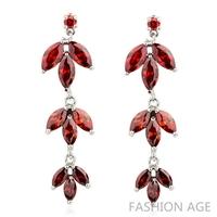 2014 New design Swiss Zircon Dangle Earrings exaggerated Austrian Crystal women's Drop earrings Platinum plated earrings(FE-115)