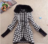 women's coats 2014 Desigual Coats Sashes Broadcloth Covered Button Womens Coat Wide-waisted Ladies Coats Female Overcoat E 13