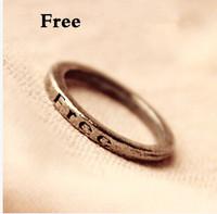 Hot sale Europe Fashion Vintage Wishing Letter Free Punk Women's Ring Women's Jewelry R-005-Free