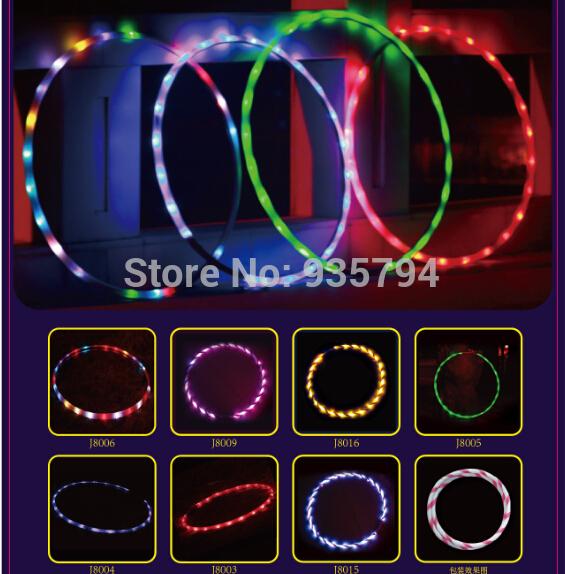 Free shipping LED Lights Hula Hoop Performance & Sports Equipment Weight loss Hula Hoop 90CM LED toys(China (Mainland))