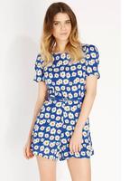 Women Fashion Sunflower  Leisure Jumpsuits
