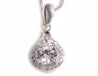 CZ Pendants 100% Guaranteed Genuine 925 Sterling Silver Jewelry With Purple Zircons YH48288