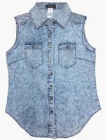 2014 New Woman Cowboy Top Rivet Casual Denim Sleeveless Vest Jacket Thin Slim Large Sizes Woman Cowboy Clothes
