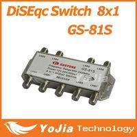 1pc Original GASTONE GS-81S 8 in 1 DiSEqC Switch 8x1 Satellites FTA TV LNB Switch high quality Free Shipping Post