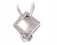 CZ Pendants 100% Guaranteed Genuine 925 Sterling Silver Jewelry With White Zircons YH48286