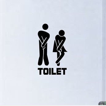 Funny Toilet Entrance Sign Decal Vinyl Sticker For Shop Office Home Cafe Hotel FREE SHIPPING 341(China (Mainland))