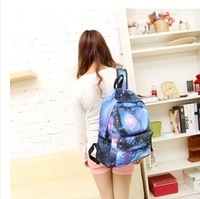 Women Canvas bag Backpack Fashion Girls Schoolbag Galaxy Stars Universe Space printing travel casual rucksack mulheres Mochila