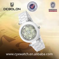 Women/ladies Ceramic watch 2014Best Lady Flower Watches For Gift Set Girls smart Wristwatch