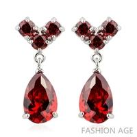 2014 New design Swiss Zircon Dangle Earrings exaggerated Austrian Crystal women's Drop earrings Platinum plated earrings(FE-125)