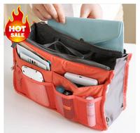 bag In Bag,Double Zipper Portable Multifunctional Travel Pockets Handbag Storage Bag,Fadish Travel Cosmetic Makeup Wash Bag 300