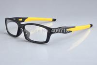 Hot Selling Brand Name Acetate Sports Eyeglasses Men's/Women's Fashion Crosslink OX8027 Black Eyeglass Frame Yellow Logo Box