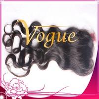Free shipping cheap brazilian human hair natural color  lace closure Brazilian virgin hair closure bleached knots baby hair