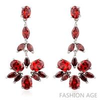 2014 New design Swiss Zircon Dangle Earrings exaggerated Austrian Crystal women's Drop earrings Platinum plated earrings(FE-130)