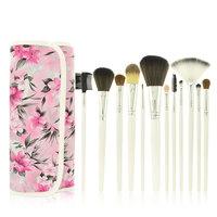 Professional 12pcs Pink Makeup Brush Set Makeup Brushes Cosmetic Brushes Makeup Brush Set Kits Case Makeup Tool