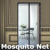 New Summer Mosquito Net Screen Door Prevent Mosquito Curtain Portiere Magnetic Stripe Magic Mesh #8364
