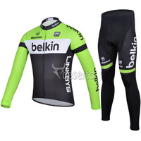 free shipping 2014 Belkin Team Long Sleeve Cycling Jersey And Pants/professional Bicycle Wear/Bike Clothes