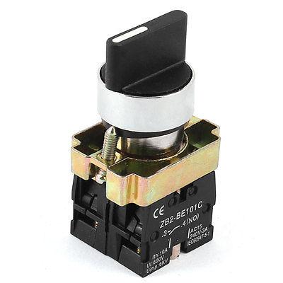 Ac240v / 3A 2NO DPST 4 терминал черный верх селектор - самоконтрящаяся поворотный переключатель 10a 660 в 4 терминал фиксации 2 позиция nc dpst поворотный переключатель ваттной 2 ключ