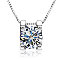 925 pure silver jewelry hearts and arrows necklace female pendant chain