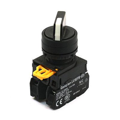 10A 600VAC 1NO 1NC DPST Cam управления самоконтрящаяся 2 позиция поворотный переключатель 10a 660 в 4 терминал фиксации 2 позиция nc dpst поворотный переключатель ваттной 2 ключ