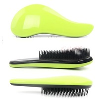 Stock Free Shipping British Queen Magic Detangling Handle Tangle Shower Hair Brush Comb Salon Styling Tamer Tool Green HB-02