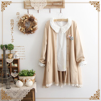 Mori girl abrigos mujer single breasted outerwear Women Jacket  Knitted Long Cardigan Lace Tops tricot inverno feminina Blazer