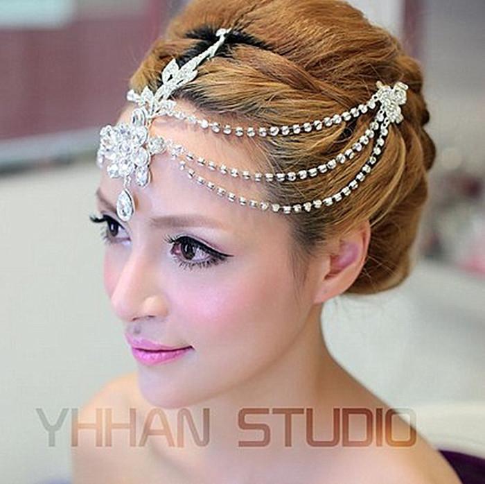 Marriage Handmade Rhinestone And Pearl Bridal Hair Accessories Wedding Hair Jewelry pageant crowns wedding tiara 2700