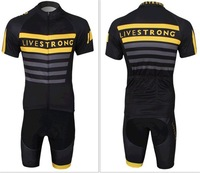 2014 LIVESTRONG Cycling Jerseys Short Sleeve + Shorts Sports Wear castelli Summer Cycling Clothing Ciclismo Maillot S-XXXL