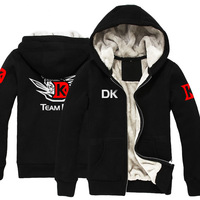 New dota 2 DK  teams autumn winter thicken cosplay anime game boy men hoodie sweatshirts