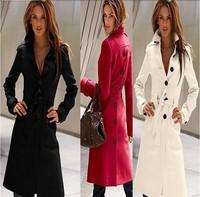 New 2014 Autumn & Winter Coat Women Slim Overcoat Brand Trench Woman Coat Cloak Lady's coat,women's overcoat,outerwear