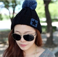 2014 New fashion Knitting Winter Wool Acrylic Brand Beanies Hip Hop Warm Hats / Gorros / Bonnets for Fashion girl Women Caps