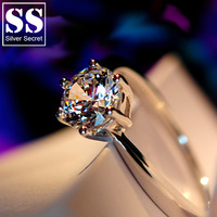 Woman's ring 925 pure silver ring married female finger ring jewelry accessories