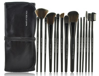 Professional 15pcs Black Wood Handle Makeup Brush Set and Kit  Makeup Tools
