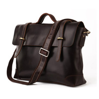 Vintage Genuine real leather Men buiness handbag laptop briefcase shoulder bag backpack / man messenger bag JMD7082c-310