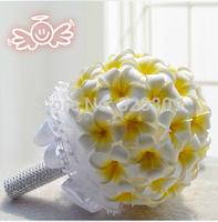 New Arrival Romantic Yellow ball-flower 100% handmade Luxurious wedding bouquets bride bouquet wedding accessories