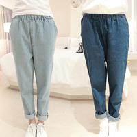 2014 Better fabric  high waist loose plus size women pants  casual denim harem pants female harem plus size jeans FREE SHIPPING