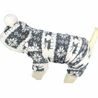 Cute Pet Jumpsuit Soft Fleece Dog Clothes Winter Hoodie Coat Costumes Small Pet Products