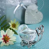 50PCS/LOT  Crystal Baby Carriage baby shower baptism gift present  Keepsake