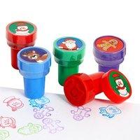 16PCS/Lot. 4 design mixed Christmas stamper Christmas toys,Christmas crafts.KIds toys,Paint toys.Santa crafts.2.5x3.7cm.