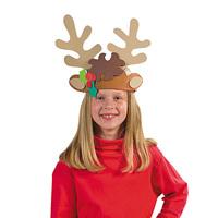 12PCS/LOT.DIY foam christmas elk antlers craft kits,Handmade christms crafts.Christmas decoration,Christmas toys.Xmas hat.