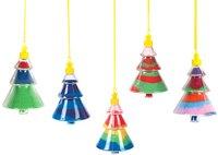 12PCS/LOT.Christmas tree sand bottle necklace,Empty bottle,Christmas tree ornament.Packing bottle,Kids toys,Sand art kit.