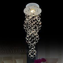 Hot Sale Europe Pendant Chandelier Double Circle Spire K9 Crystal  Hall Decorative Lighting Fixture  Free Ship To Russia Brazil(China (Mainland))